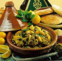 Изображение рецепта Тажин с курицей и миндалем
