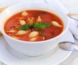 Изображение рецепта Томатный крем-суп с макаронами