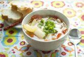 Суп с луком и пекинской капустой