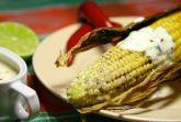 Кукуруза на гриле со сметанным соусом