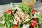 Салат с лососем на пару