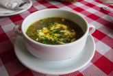 Грибной суп вегетарианский