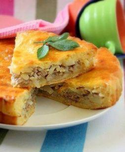 Изображение рецепта Дрожжевой пирог с мясом и картофелем