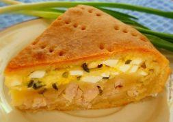 Изображение рецепта Мясной пирог с яйцами, луком и сыром