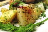 Изображение рецепта Семга запеченная с картофелем и укропом