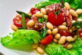 Изображение рецепта Салат с фасолью и хамоном