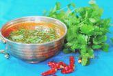 Пикантный томатный суп с рыбой