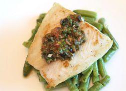 Изображение рецепта Палтус с сальсой из маслин и томатов