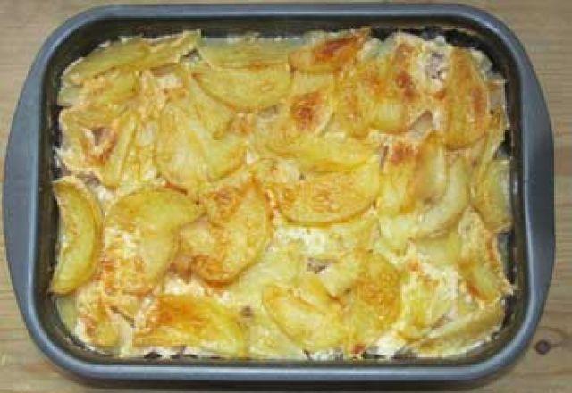 Рецепт свинина с яблоками картошкой