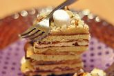 """""""Жареный"""" торт с ирисками, шоколадом и маршмеллоу"""