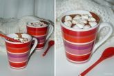 Горячий шоколад с кофе, корицей и маршмелоу