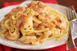 Изображение рецепта Паста феттуччине с креветками
