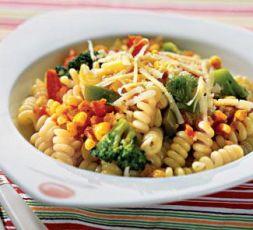 Изображение рецепта Макароны с сыром и овощами