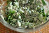 Изображение рецепта Салат с огурцами, зелёным горошком и яйцами