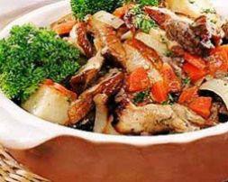 Изображение рецепта Мясо с шампиньонами и сладким перцем