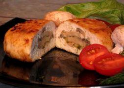 зразы куриные с сыром и грибами рецепт с фото