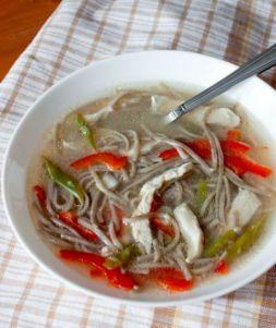 Изображение рецепта Куриный суп с лапшой соба