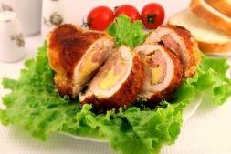 Изображение рецепта Рулетики куриные с ветчиной и ананасом