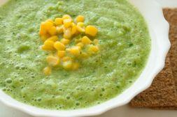 Изображение рецепта Гаспачо из огурцов и кукурузы
