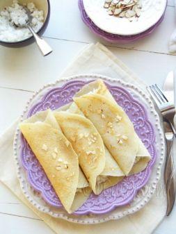 Изображение рецепта Постные блинчики со сгущенным постным молоком