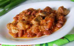 Изображение рецепта Тушеная свинина с фасолью