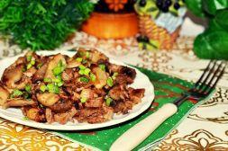 Изображение рецепта Жареное мясо с грибами