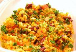 Изображение рецепта Рис с арахисом и грибами