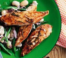 Изображение рецепта Куриное филе с чесноком и розмарином