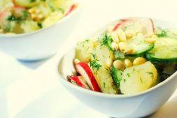 Изображение рецепта Салат с редисом, огурцами и картофелем