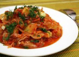 Изображение рецепта Рагу из кабачков и капусты