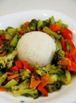 Изображение рецепта Овощное соте с рисом