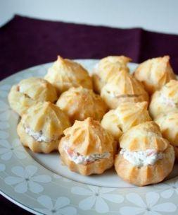 Изображение рецепта Профитроли со сливочным сыром и лососем