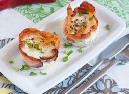 Изображение рецепта Яичница в корзиночках из бекона