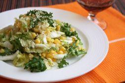 Изображение рецепта Салат с кукурузой и кунжутом