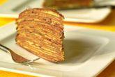 Торт блинный с орехами