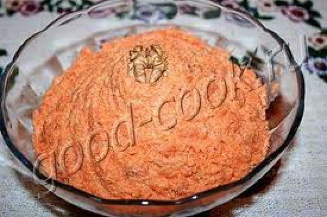 Рецепт салата моркови с чесноком