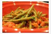 Стручковая фасоль с овощами