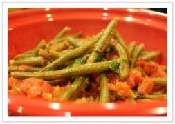 Изображение рецепта Стручковая фасоль с овощами