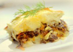 Изображение рецепта Постная картофельная запеканка с грибами