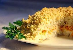 Изображение рецепта Салат Мимоза с морковью
