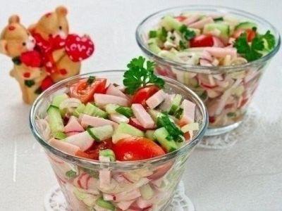 Изображение рецепта ''Салат с помидорами черри и ветчиной''