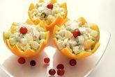 Изображение рецепта Куриный салат с огурцом и апельсином