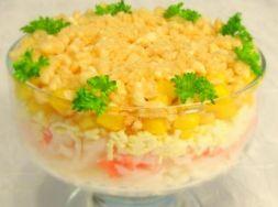Изображение рецепта Салат с рисом и крабовым мясом