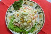 Салат с крабовым мясом и капустой