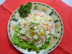 Изображение рецепта Салат с крабовым мясом и капустой