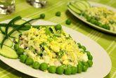 Салат с молодым зеленым горошком