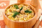 Салат с грибами и блинчиками