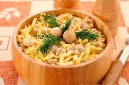 Изображение рецепта Салат с грибами и блинчиками