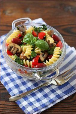 Изображение рецепта Теплый салат с грибами и фасолью