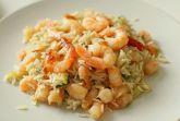 Рис с креветками и чесноком